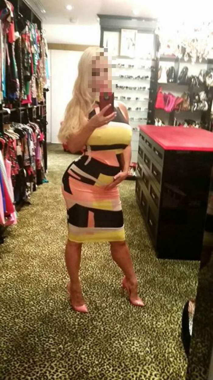 Una dintre cele mai cunoscute blondine de la Hollywood este însărcinată în şase luni, dar nu renunţă la ţinutele sexy. Prima imagine cu burtica de gravidă