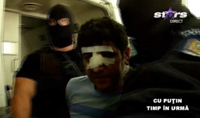 Imagini de ultimă oră! Milionarul turc care a dat cu maşina peste politist a fost adus la spital de duba poliţiei