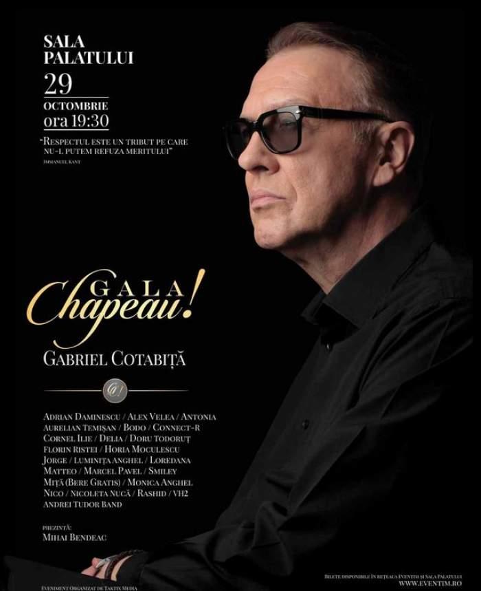 Spectacol fără precedent la Sala Palatului! Evenimentul va omagia cariera lui Gabriel Cotabiţă
