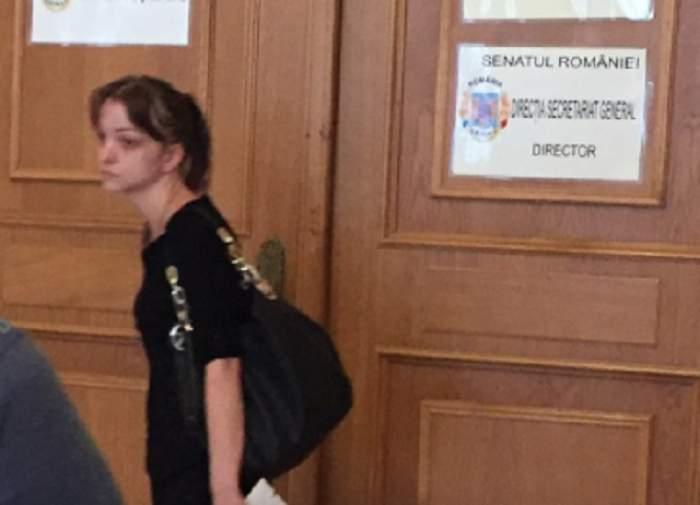 Fiica lui Corneliu Vadim Tudor, vizită la Senat la o săptămână de la moartea tatălui
