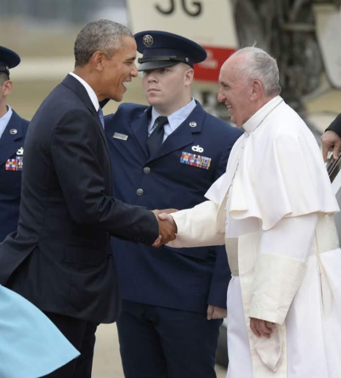 Papa Francisc, primire inedită în America! I-au imprimat chipul pe un aliment de bază