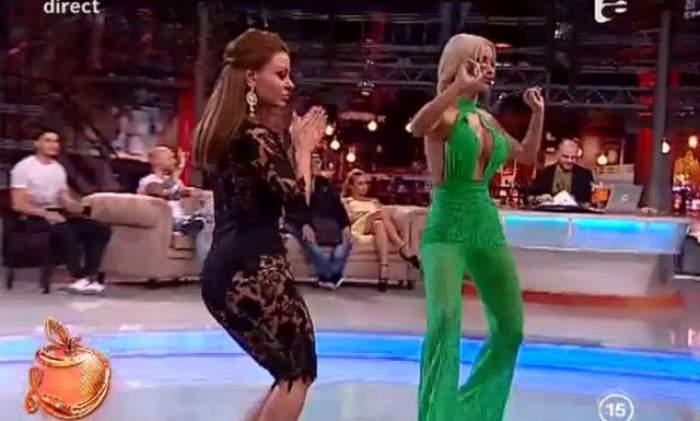Dantela verde, dantelă neagră şi multe mişcări demenţiale! Ana Mocanu şi Loredana Chivu, în ţinute de infarct