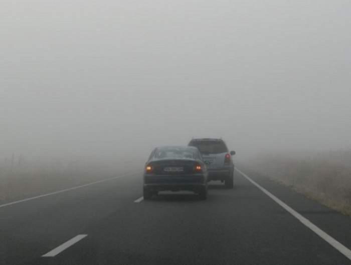 Atenţie, şoferi! A fost emis COD GALBEN de ceaţă