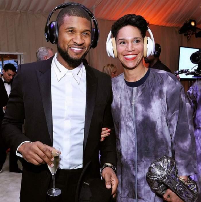 Usher, căsătorie în secret cu managerul său. Fotografiile din luna de miere l-au dat de gol!