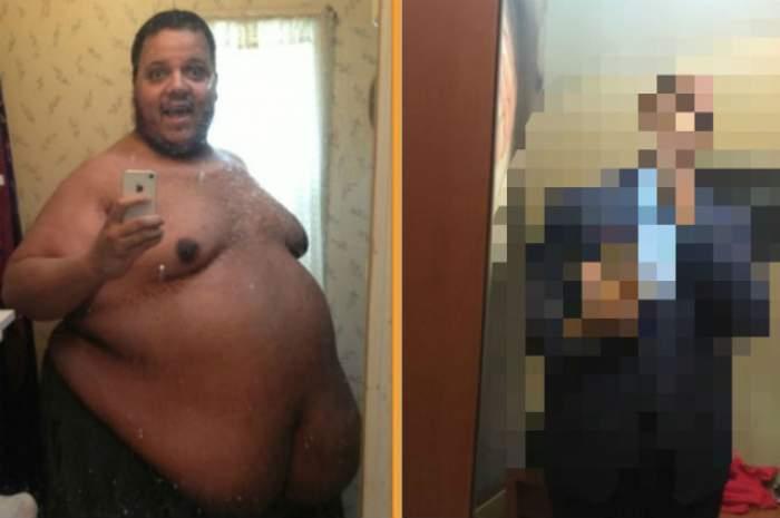 Nu încăpea în cabina de duş, dar a decis că a venit vremea să facă o schimbare radicală! Bărbatul a slăbit peste 300 de kilograme! Incredibil cum s-a transformat