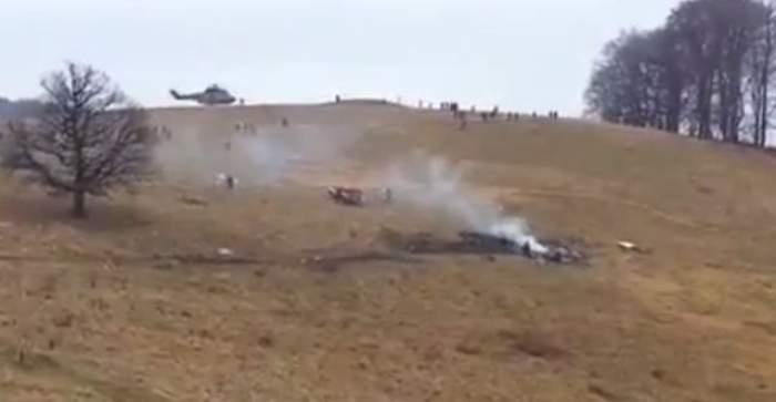 Elicopter prăbuşit în Harghita. Pilotul a murit pe loc
