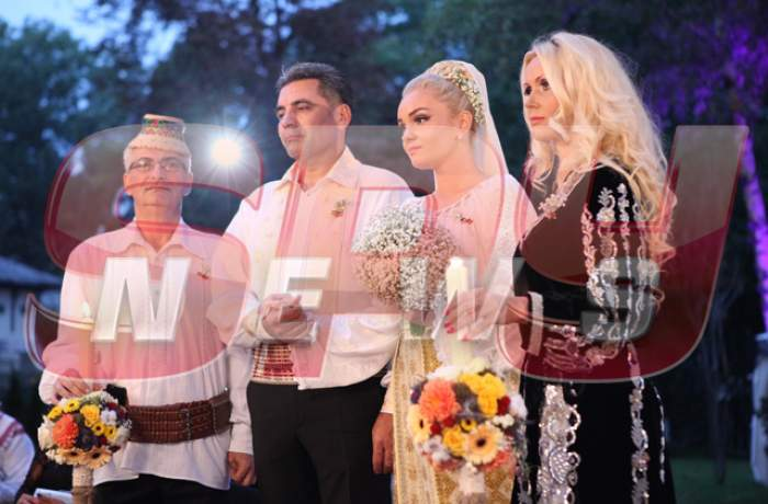 Tortul de nuntă al Mariei Constantin şi al lui Marcel Toader a atras toate privirile