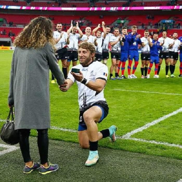 VIDEO / Primele declaraţii ale româncei care a fost cerută de nevastă pe stadionul Wembley,  în faţa a zeci de mii de spectatori!