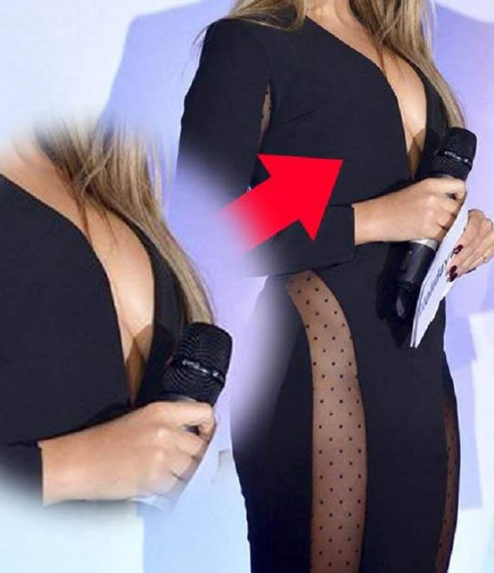 """O prezentatoare TV celebră  a oripilat cu sânii """"şosete"""", dar a mizat pe lipsa chiloţeilor"""