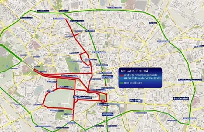 Atenţie şoferi! Două zile, traficul va fi închis în Capitală! Vezi rutele ocolitoare