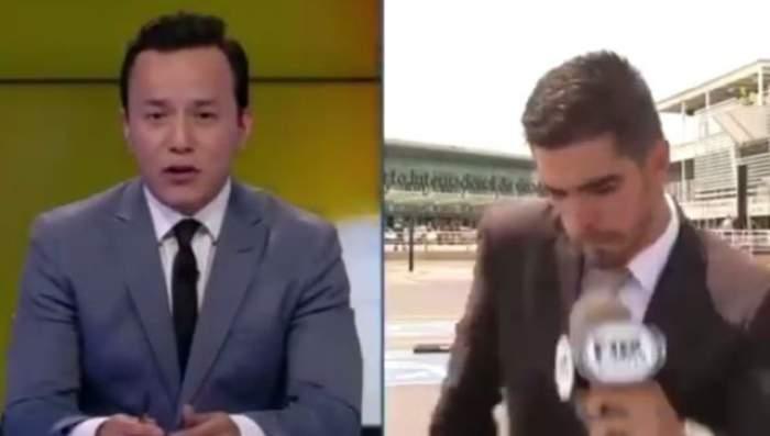 VIDEO / S-a întâmplat în direct! Ce a păţit acest jurnalist care transmitea în direct e ŞOCANT