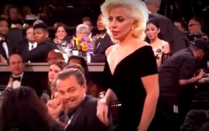 VIDEO / Reacţia lui Leonardo DiCaprio, după ce filmuleţul cu el şi Lady Gaga de la Globurile de Aur a ajuns viral