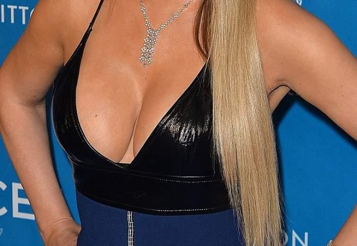 FOTO / Mamă, mamă! După ce a scăpat de kilogramele în plus, Mariah Carey şi-a scos pieptul la înaintare într-o gală UNICEF!