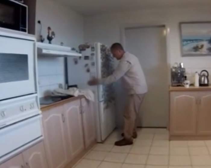 VIDEO / Filmulețul care îți va îngheța sângele în vene. Ce a găsit o familie în spatele frigiderului