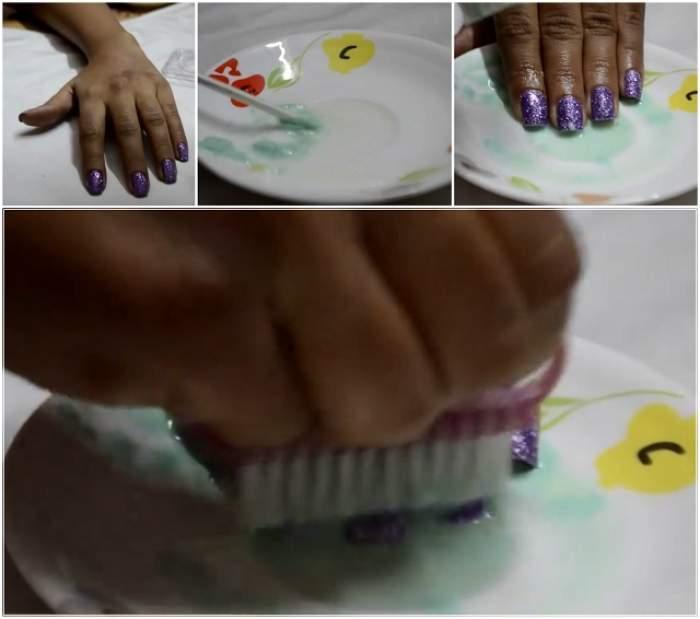 VIDEO / Ce se întâmplă dacă îţi ştergi unghiile cu pastă de dinţi, lămâie şi apă. Trucul care-ţi va salva manichiura  şi despre care saloanele de înfrumuseţare n-au aflat încă