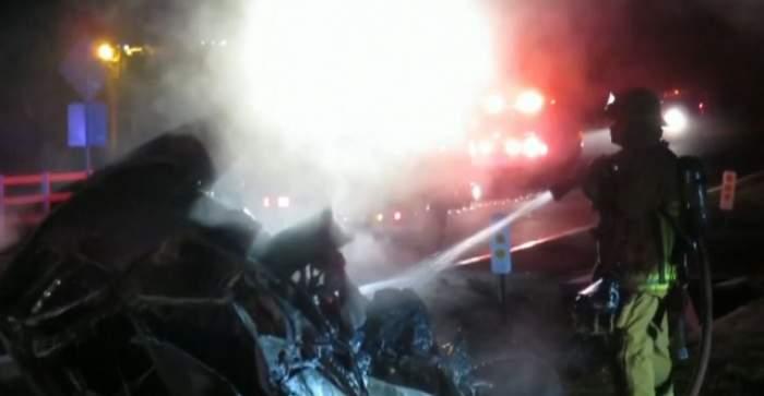 VIDEO / Jamie Foxx, la un pas de moarte! A scăpat din maşină înainte ca aceasta să devină o minge de foc!