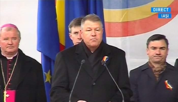 """Klaus Iohannis, primul discurs de Ziua Unirii: """"Revin mereu cu mare bucurie la Iaşi!"""" Imagini de la ceremonie"""