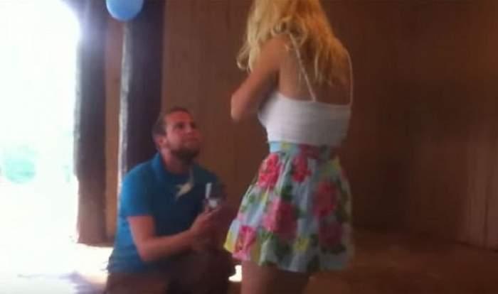 VIDEO / Şi-a cerut iubita de soţie într-un cadru extrem de romantic. Ce a urmat este incredibil
