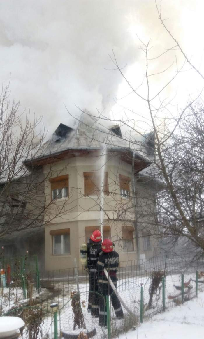 Incendiu puternic în nordul Capitalei!