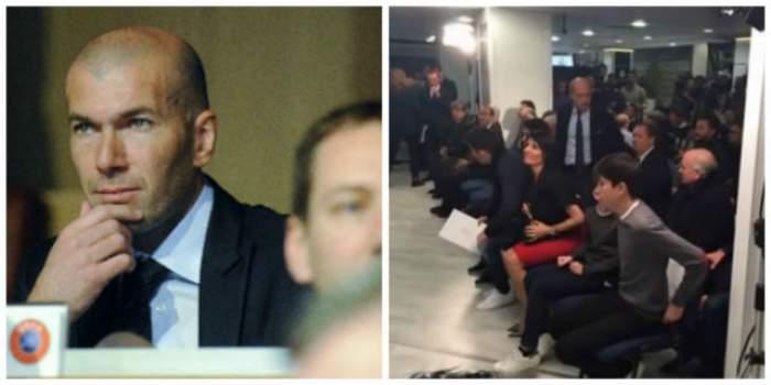 """VIDEO / Zinedine Zidane este noul antrenor de la Real Madrid. """"Galactica"""" sa soţie a atras toate privirile la conferinţa de presă"""