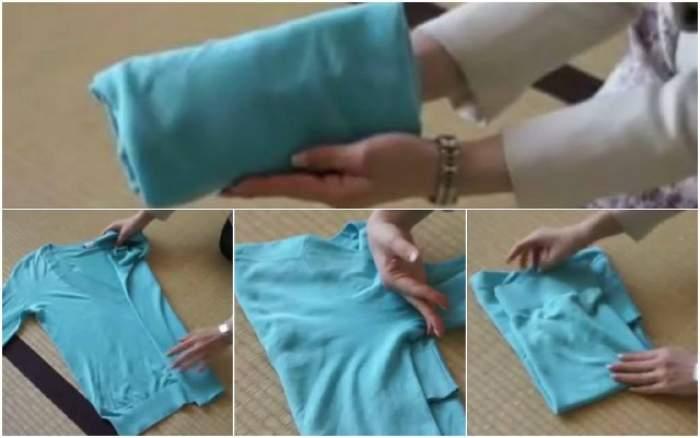 VIDEO / ÎNTREBAREA ZILEI: MIERCURI - Cum să împachetezi corect hainele cu mâneci lungi?