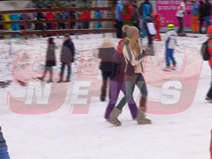 VIDEO / Atenție, pârtie! Alina Vidican, surprinsă la munte! Uite-o pe soția acționarului dinamovist în timp ce încearcă să scape de stres la Poiana Brașov