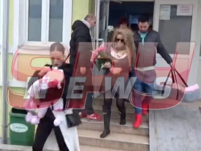 VIDEO / Primele imagini! Sânziana Buruiană şi-a luat odorul acasă