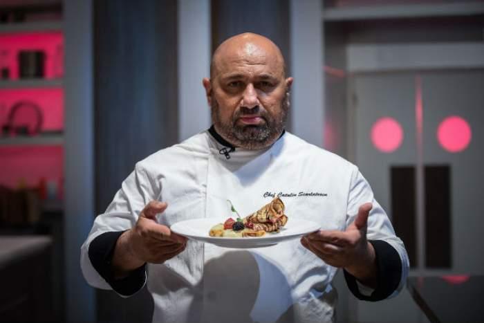 """FOTO / Chef Scărlătescu a gătit clătite la """"Chefi la cuțite"""", iar Florin Dumitrescu a pierdut un om de finală"""