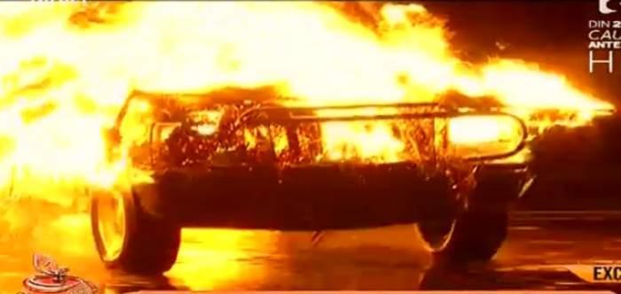 """VIDEO / Şase vedete au trecut prin """"PROBELE IADULUI""""! Una dintre ele a greşit manevra şi era să ia foc"""