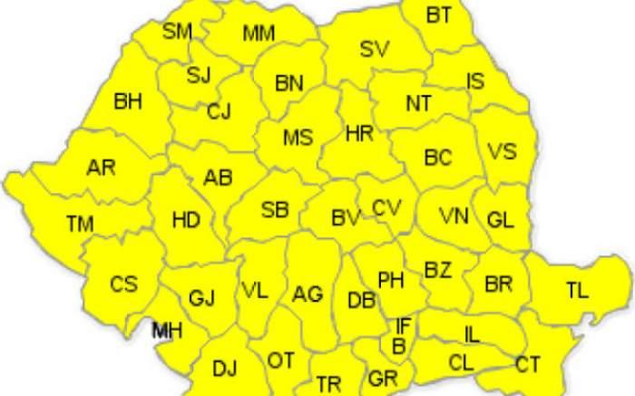 E COD GALBEN de NINSORI în toată România!