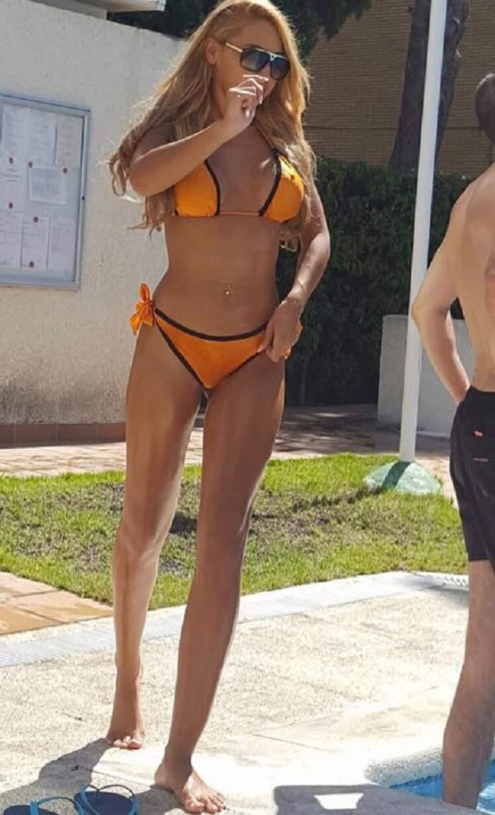 """FOTO / Denisa Despa nu mai are trupul de zeiţă de odinioară! Dansatoarea maneliştilor, din ce în ce mai """"pufoasă"""""""