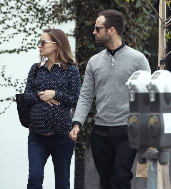 FOTO / Actriţa Natalie Portman are probleme cu sarcina!?! Cum au surprins-o paparazzii