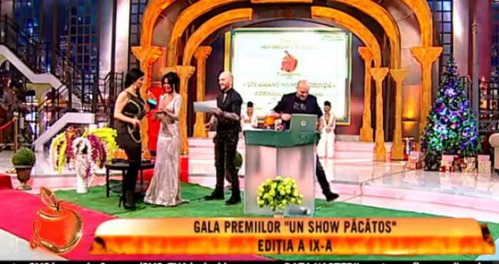 """VIDEO / Bucurie, după bucurie pentru Adriana Bahmuţeanu! Vedeta a primit un trofeu în cadrul galei Premiilor """"Un show păcătos"""""""