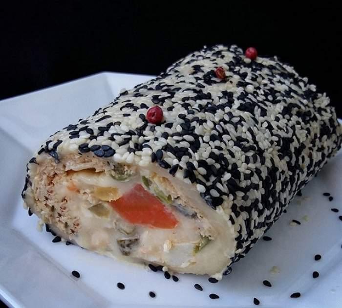 Reţeta zilei: vineri - Ruladă de caşcaval cu salată de boeuf! Perfectă pentru Crăciun
