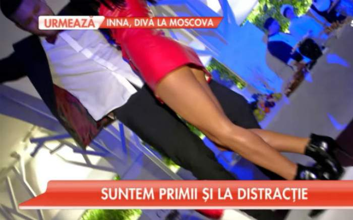FOTO / Daniela Crudu, imagini de infarct! Asistenta, într-o rochie extrem de scurtă şi cu fundul la vedere