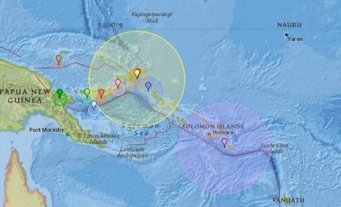 Cutremur cu magnitudinea 8 pe scara Richter în largul Papua Noua Guinee