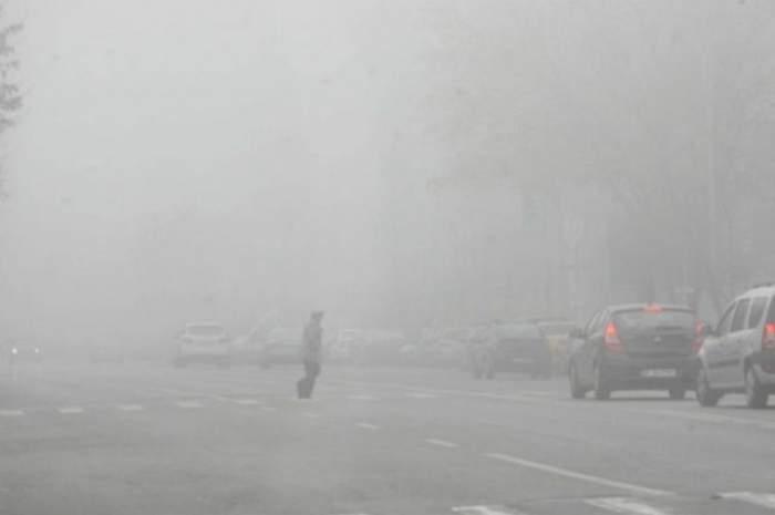 ATENŢIE! COD GALBEN de ceață în mai multe județe din țară