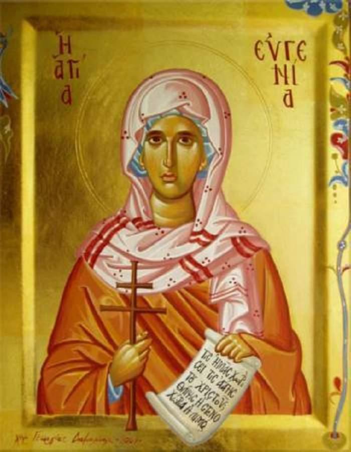 În Ajunul Crăciunului o prăznuim pe Sfânta Muceniţă Eugenia! Ce nu ştiai despre această sărbătoare