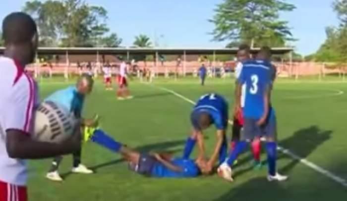 Cazul Ekeng s-a repetat în fotbal! Un jucător de doar 19 ani a murit pe teren după ce a dat gol! / VIDEO CUTREMURĂTOR