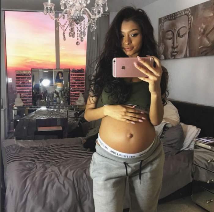 FOTO / Fosta iubită a lui Justin Bieber are probleme cu sarcina! Cum încearcă iubitul ei să-i aline suferinţa