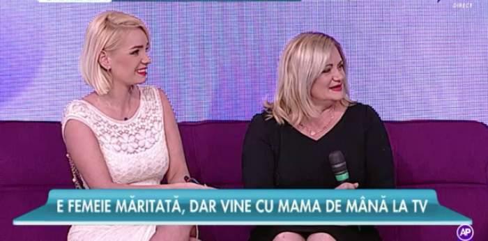 FOTO / Maria Constantin, cu mama la TV! Nu poţi să le deosebeşti, parcă ar fi surori