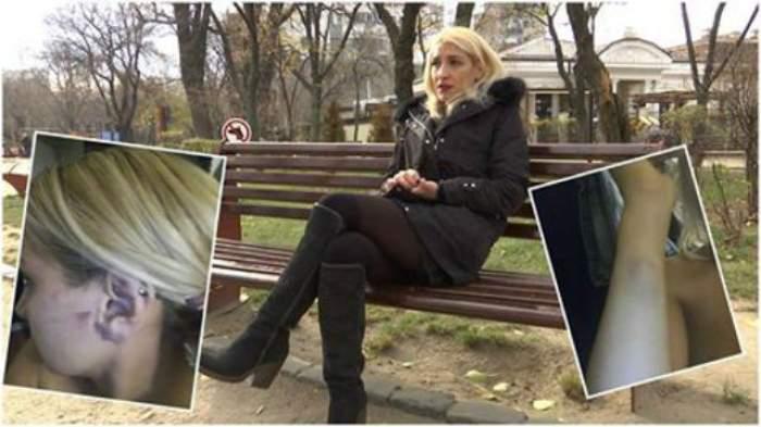"""VIDEO / O fostă gimnastă, călcată în picioare de iubit: """"Am vrut să sar din maşină!"""""""