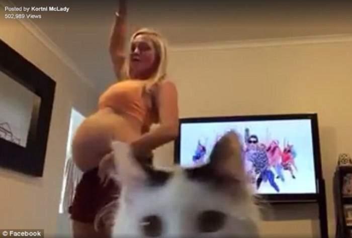VIDEO / E şi asta o strategie pentru a grăbi travaliul! O gravidă dansează ca Justin Bieber. Imaginile au fost urmărite de jumătate de milion de internauţi