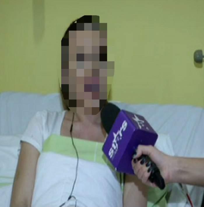 """VIDEO / Prima apariţie pe patul de spital! Cum arată """"operata anului"""" la câteva ore după intervenţie: """"Am doi plasturi şi sunt vânătă"""""""