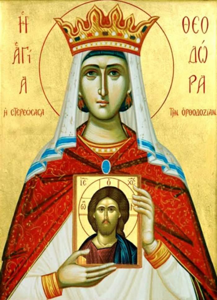 Sărbătoare mare pentru creştini! Azi o prăznuim pe Sfânta Teodora împărăteasa