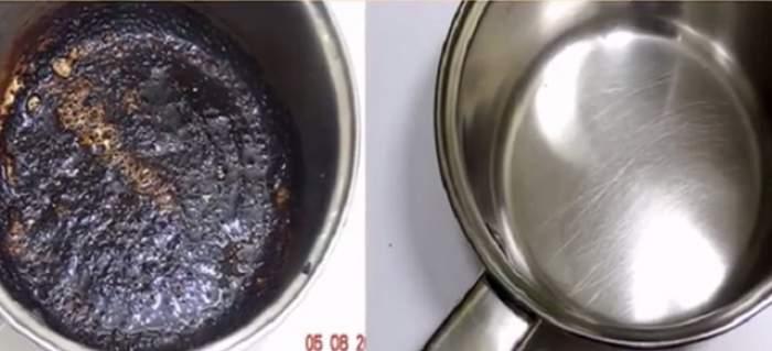 VIDEO / Cea mai ieftină şi eficientă metodă pentru a curăţa tigăile şi oalele arse! Ai nevoie de un singur ingredient, iar acestea vor fi ca noi
