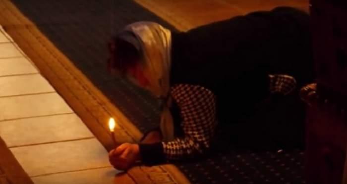 Videoclipul care a scandalizat întreaga ţară! Gemete şi ţipete îngrozitoare, după ce o femeie este exorcizată! Imaginile şocante fac furori pe internet