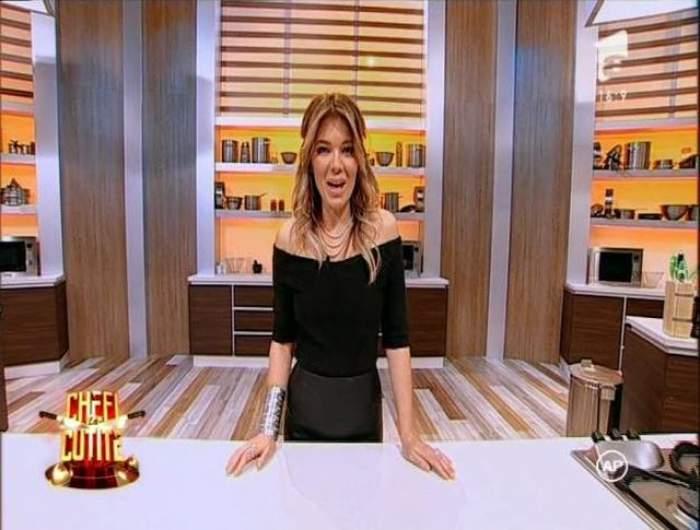 """FOTO / Gina Pistol, irezistibil de sexy la """"Chefi la cuţite""""! A îmbrăcat o ţinută ultra senzuală şi a făcut senzaţie!"""