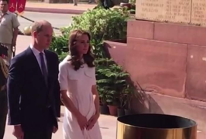 VIDEO / Gafă de proporţii făcută de Kate Middleton! A îmbrăcat o rochie albă, însă vântul i-a jucat feste! A fost la un pas de a i se vedea tot
