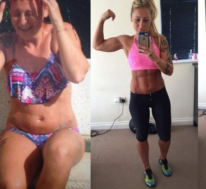A slăbit 20 de kg şi s-a tranformat într-un pachet de muşhi, fără să calce în sala de gimnastică! Cum a reuşit performanţa povesteşte chiar ea
